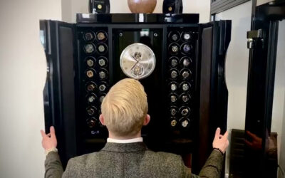 Luxury watches in a luxury watch winder